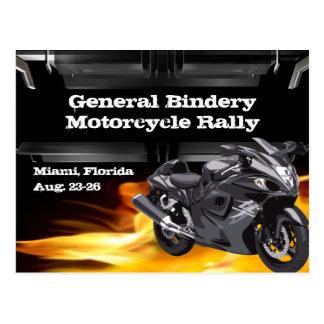 Carte postale grise de brûleur à vélo