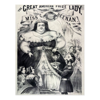 Carte Postale Grosse Madame professionnelle