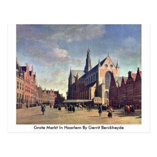 Carte Postale Grote Markt à Haarlem par Gerrit Berckheyde