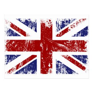Carte Postale Grunge britannique de punk de drapeau