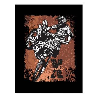 Carte Postale Grunge de motocross