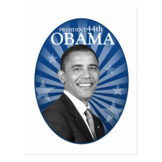 Carte Postale guerre biologique bleue de président obama