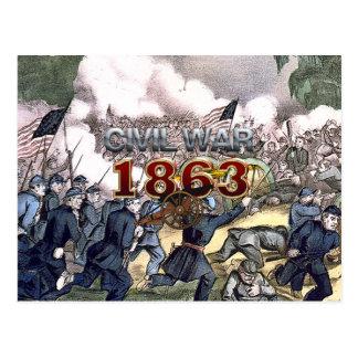 Carte Postale Guerre civile 1863 d'ABH