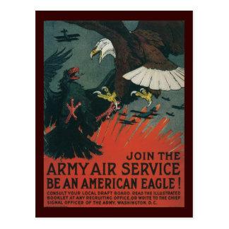 Carte Postale Guerre mondiale d'Eagle d'Américain 2