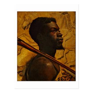 Carte Postale Guerrier africain par Boyd