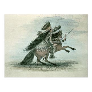 Carte Postale Guerrier de la tribu de corneille (la semaine sur