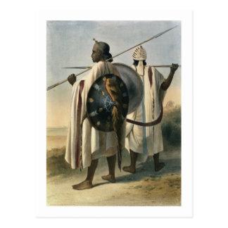 Carte Postale Guerriers abyssiniens, illustration 'de la vallée