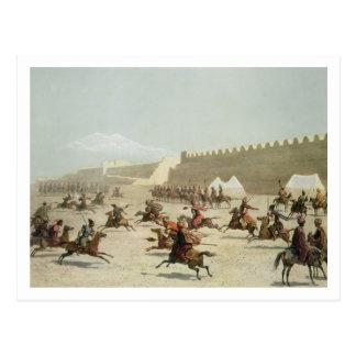 Carte Postale Guerriers kurdes et tatars chez Sadar Abbat,