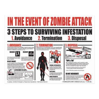 Carte Postale Guide de survie de zombi - au delà de ces murs