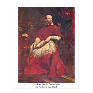Carte Postale Guido Bentivoglio cardinal par Anthony Van Dyck