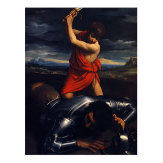 Carte Postale Guido Reni- David et Goliath