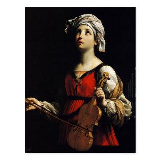 Carte Postale Guido Reni- St Cecilia