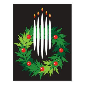Carte Postale Guirlande de vacances avec des bougies