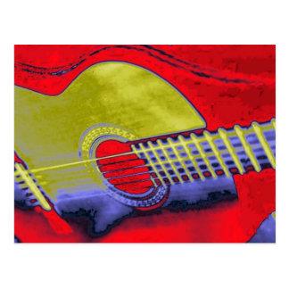 Carte Postale Guitare d'art de bruit