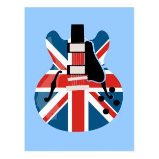 Carte Postale Guitare de Britpop