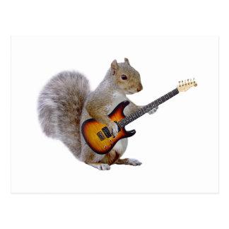 Carte Postale Guitare d'écureuil