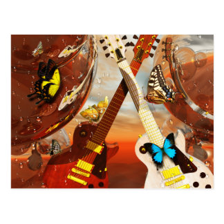 Carte Postale Guitare électrique par art de Lenny