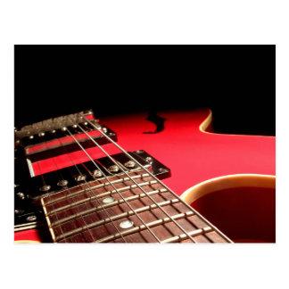 Carte Postale Guitare électrique rouge