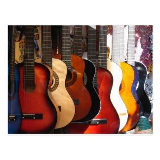 Carte Postale Guitares