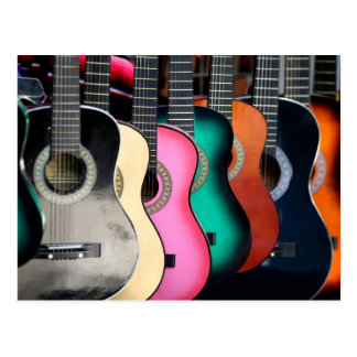 Carte Postale Guitares acoustiques