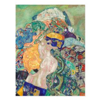 Carte Postale Gustav Klimt--Berceau de bébé