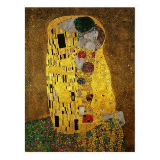 Carte Postale Gustav Klimt le baiser