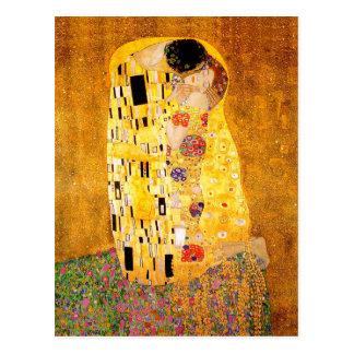 """Carte Postale Gustav Klimt """"le baiser """""""