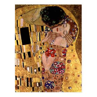 Carte Postale Gustav Klimt : Le baiser (détail)