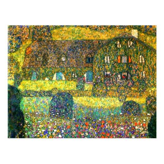 Carte Postale Gustav Klimt : Maison De Campagne Chez L