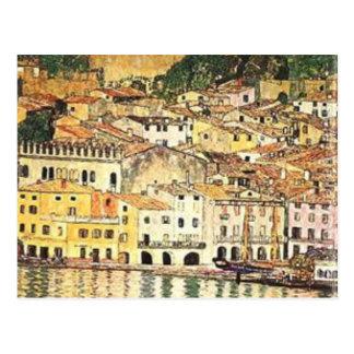 Carte Postale Gustav Klimt - Malcesine sur le policier de lac