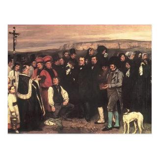 Carte Postale Gustave Courbet- un enterrement chez Ornans