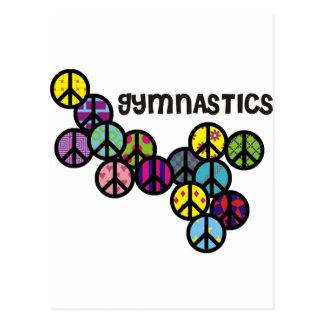 Carte Postale Gymnastique avec la suffisance de signe de paix