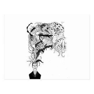 Carte Postale H.P. Les monstres de Lovecraft