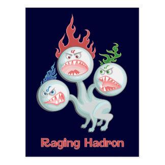 Carte Postale Hadron faisant rage