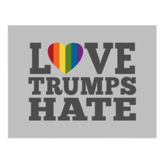 Carte Postale Haine d'atouts d'amour - anti Donald Trump