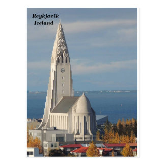 Carte Postale Hallgrímskirkja, Reykjavik, Islande