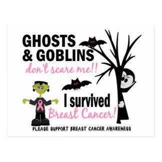 Carte Postale Halloween 1 survivant de cancer du sein
