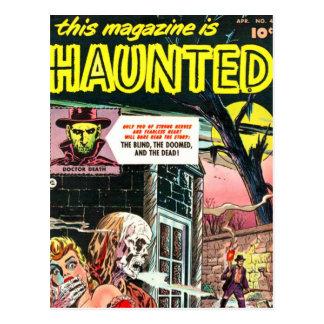 Carte Postale Halloween a hanté la bande dessinée