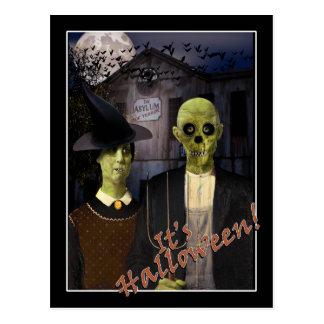 Carte Postale Halloween gothique américain