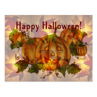 Carte Postale HALLOWEEN JACK et CORRECTION de CITROUILLE par