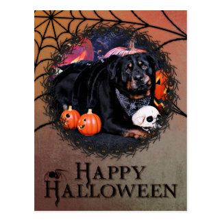 Carte Postale Halloween - rottweiler - maximum
