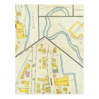 Carte Postale Hallowell, comté de Kennebec, et le Maine 3