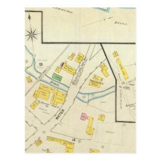 Carte Postale Hallowell, comté de Kennebec, et le Maine 4