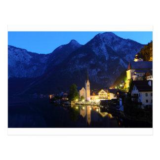 Carte postale - Hallstatt la nuit, Autriche