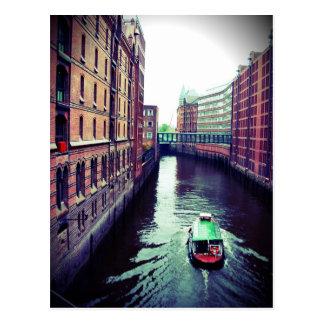 Carte Postale Hambourg ou Venise ?