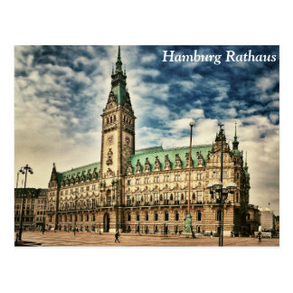 Carte Postale Hambourg Rathaus, Allemagne