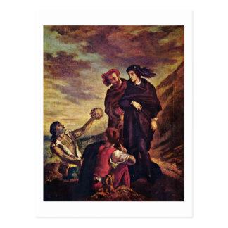 Carte Postale Hamlet et Horatio dans le cimetière