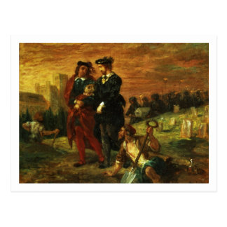 Carte Postale Hamlet et Horatio dans le cimetière, 1859 (huile