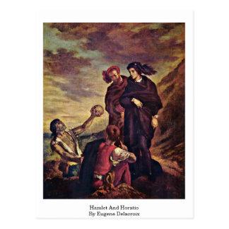 Carte Postale Hamlet et Horatio par Eugene Delacroix