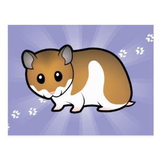 Carte Postale Hamster de Syrien de bande dessinée